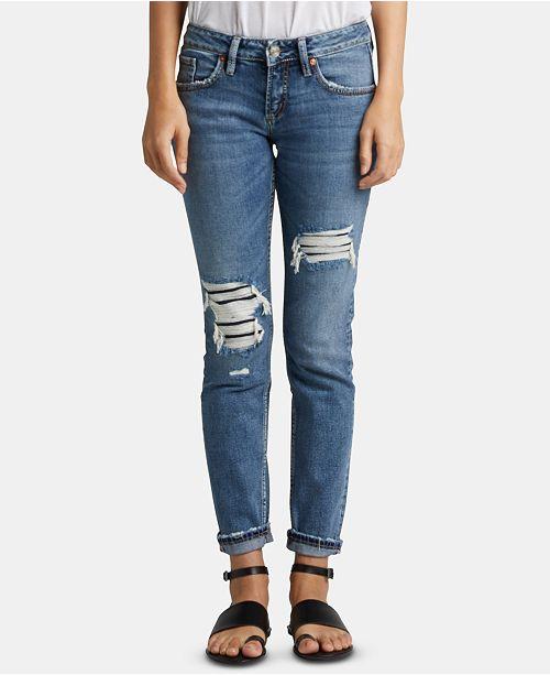Silver Jeans Co. Ripped Boyfriend Jeans