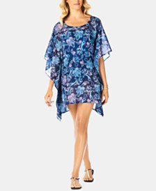 Swim Solutions Paisley Swim Cover-Up, Created For Macy's