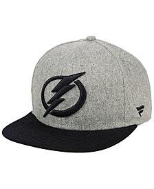 Authentic NHL Headwear Tampa Bay Lightning Heavy Heather Emblem Snapback Cap