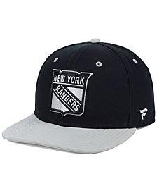Authentic NHL Headwear New York Rangers Blackout Emblem Snapback Cap
