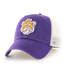 '47 Brand LSU Tigers Stamper CLOSER Stretch Fitted Cap