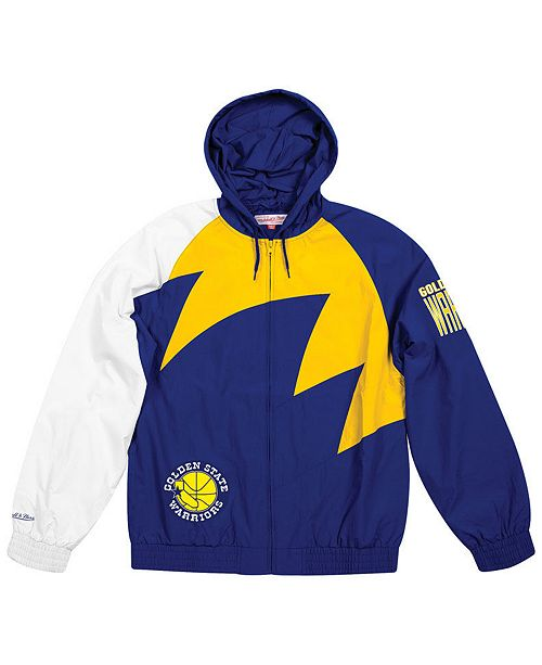 Mitchell & Ness Men's Golden State Warriors Shark Tooth Jacket