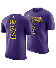 Nike Lonzo Ball Los Angeles Lakers City Edition T-Shirt, Big Boys (8-20)