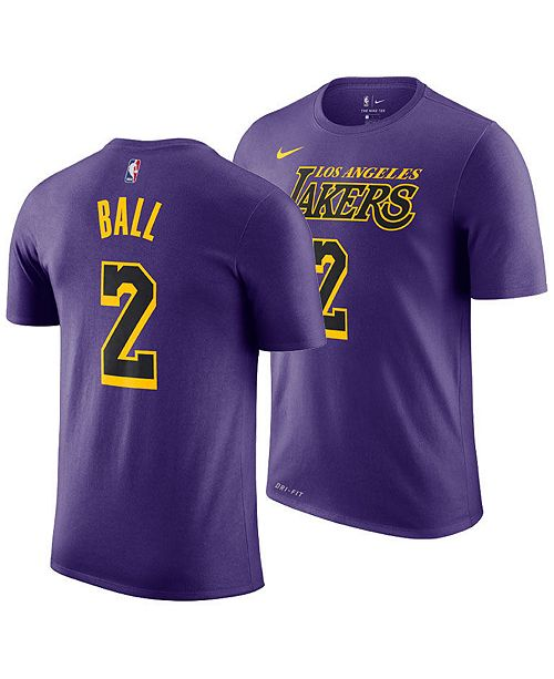 ... Nike Lonzo Ball Los Angeles Lakers City Edition T-Shirt aa0ea22f0