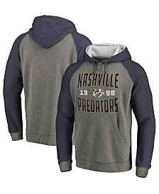Majestic Men's Nashville Predators Antique Tri-Blend Hoodie