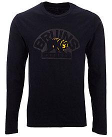Authentic NHL Apparel Men's Boston Bruins Blackout Long Sleeve T-Shirt