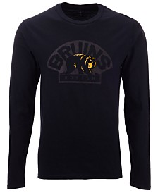 Authentic NHL Apparel Men's Boston Bruins Blackout Long Sleeve T-Shirt