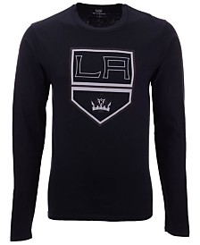 Authentic NHL Apparel Men's Los Angeles Kings Blackout Long Sleeve T-Shirt