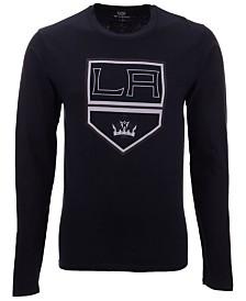 Authentic NHL Apparel Men's Los Angeles Kings Blackout Long Sleeve T-Shirt