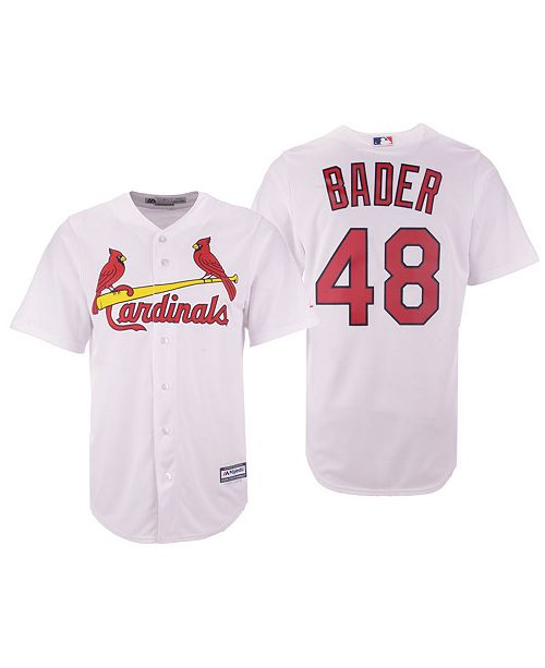 sports shoes a1320 87d98 ... Majestic Men s Harrison Bader St. Louis Cardinals Player Replica Cool  Base Jersey ...
