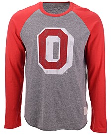 Men's Ohio State Buckeyes Colorblock Raglan Long Sleeve T-Shirt