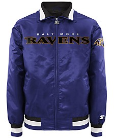 G-III Sports Men's Baltimore Ravens Starter Captain II Satin Jacket