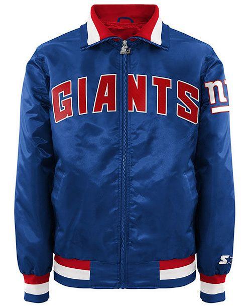 G-III Sports Men's New York Giants Starter Captain II Satin Jacket