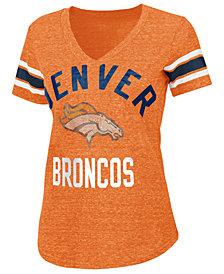 G-III Sports Women's Denver Broncos Sleeve Stripe Bling T-Shirt