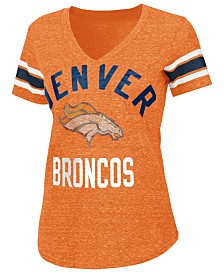 G-III Sports Women's Denver Broncos Sleeve Stripe Bling T-Shirt