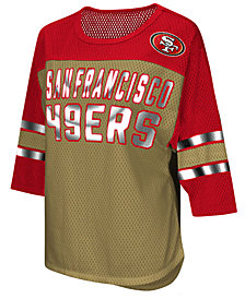 G-III Sports Women's San Francisco 49ers Team Sleeve Stripe T-Shirt