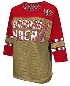 75648da8f10 G-III Sports Women s San Francisco 49ers Team Sleeve Stripe T-Shirt
