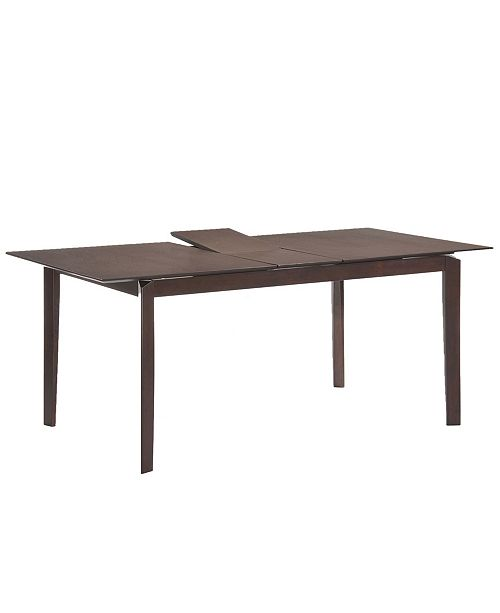 New Spec Inc Arc Extended Mid Century Wenge Solid Wood Dining Table