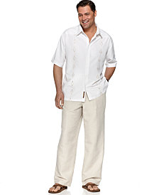 Cubavera Big and Tall Shirt and Cubavera Big and Tall Linen Pants