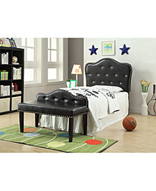 Karla Twin Tufted Headboard with Bench