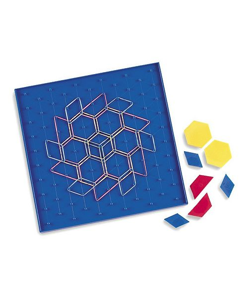 Learning Resources Two-Sided Pattern Array Block Geoboard