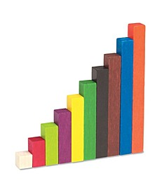 Wood Cuisenaire Rods Small Group Set-155 Pc