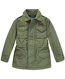 Polo Ralph Lauren Big Girls Twill Military-Inspired Cotton Jacket