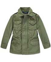 76e0743a4 Polo Ralph Lauren Big Girls Twill Military-Inspired Cotton Jacket