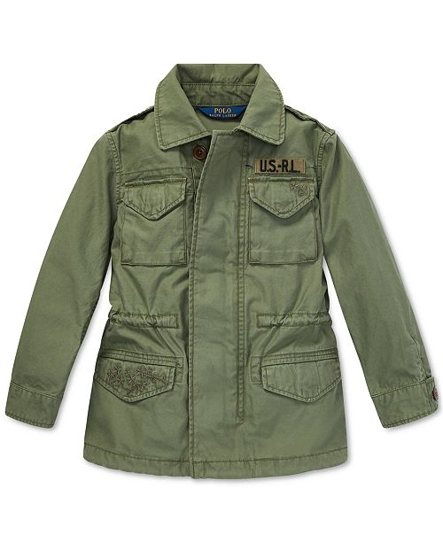 Polo Ralph Lauren Little Girls Twill Military-Inspired Cotton Jacket