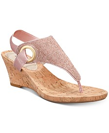 White Mountain All Done Wedge Thong Sandals