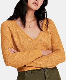 Free People V-Neck Long-Sleeve Sweater