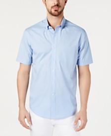 Club Room Men's Dot-Print Stretch Cotton Shirt
