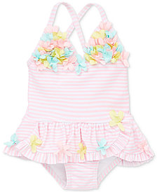 Little Me 3D Multi Pink Baby Girls Swimsuit