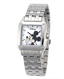 Disney Mickey Mouse Women's Silver Square Steel Watch