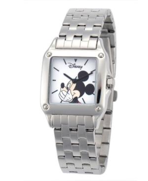 Disney Mickey Mouse Women's Silver Square Steel Watch
