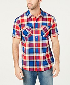 Men's Slim-Fit Plaid Shirt
