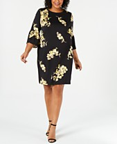 7939e4fa080 Alfani Plus Size Scuba Bell-Sleeve Dress