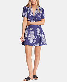 Free People Printed Fit & Flare Dress