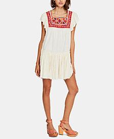 Free People Embroidered-Yoke Shift Dress