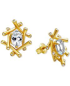 Kesi Jewels Sky Blue Topaz (1-1/2 ct. t.w.) & Diamond Accent Stud Earrings in 14k Gold