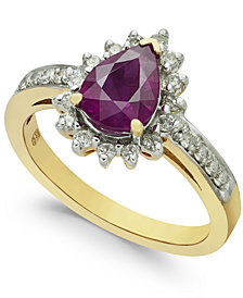 Ruby (1-3/8 ct. t.w.) & Diamond (1/3 ct. t.w.) Ring in 14k Gold