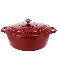 French Enameled Cast Iron 7.25 Qt. Oval Dutch Oven