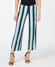 I.N.C. Petite Striped Soft Pants, Created for Macy's