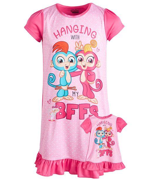 Fingerlings Little & Big Girls Fingerlings Nightgown & Doll Nightgown
