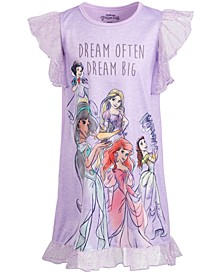 Little & Big Girls Princesses Dream Big Nightgown