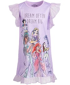 AME Little & Big Girls Princesses Dream Big Nightgown
