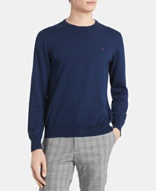 Calvin Klein Men's Solid Supima Cotton Sweater