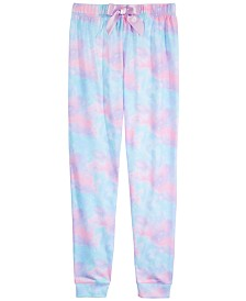 Max & Olivia Big Girls Printed Jogger Pajama Pants, Created for Macy's