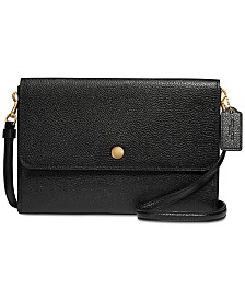 COACH Triple Crossbody in Polished Pebble Leather