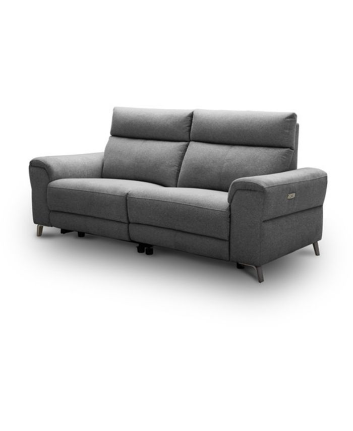 """Furniture CLOSEOUT! Raymere 86"""" 2-Pc. Fabric Sofa with 2 Power Motion & Power Headrests & Reviews - Furniture - Macy's"""